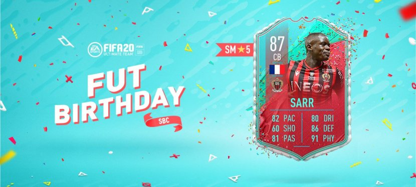FIFA20 – SOLUTION SBC SARR FUTBIRTHDAY