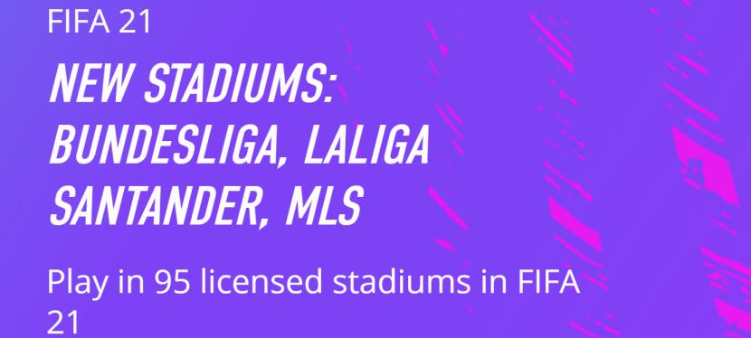 FIFA 21 – NOUVEAUXSTADES